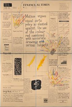 Financial Times: Billboard Wednesday September 17, 1986, Conrad Atkinson. Government Art Collection, currently on display at 11 Downing Street.