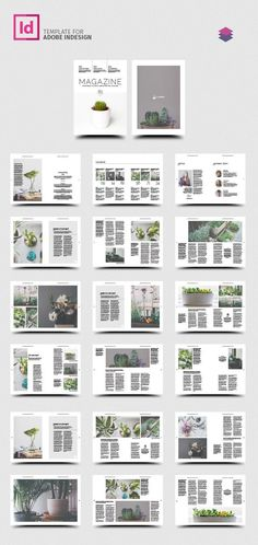 Multipurpose Magazine Template for InDesign - My Original Ideas Web Design Trends, Ui Design, Page Layout Design, Magazine Layout Design, Brochure Layout, Brochure Design, Gran Hotel Budapest, Web Design Tutorial, Magazin Design