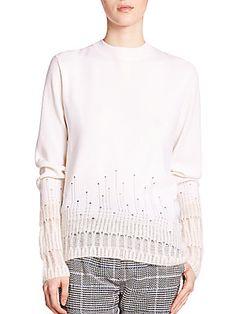 3.1 Phillip Lim Shredded-Detail Sweater