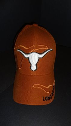 ee9199b122e New UT Texas Longhorns University of Texas Burnt Orange Velcro-back Hat Cap   TexasLonghorns