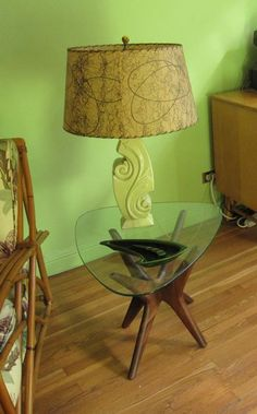 Mid century lamp - I'll take the table too!