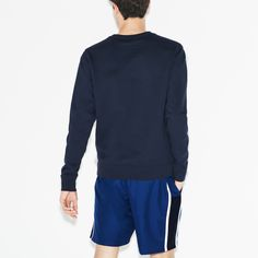 4e2bf82055 Lacoste Men's Sport Taffeta Tennis Shorts - Marino/White-Navy Blue S 3 Green