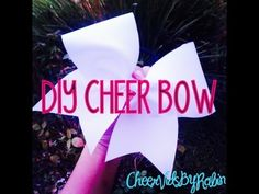 Hey guys, i hope everyone enjoys this little video i put together to make a simple cheer bow! Softball Bows, Cheerleading Bows, Cheer Stunts, Cheer Dance, Cheer Hair, Cheer Mom, Diy Hair Bows, Diy Bow, Ribbon Hair