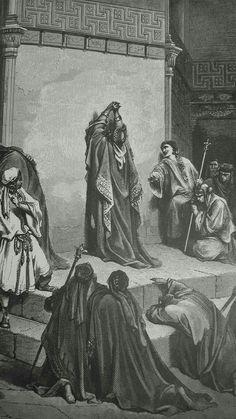 Phillip Medhurst presents detail 085_241 Gustave Doré Bible David Mourning the Death of Absalom 2 Samuel 18:33