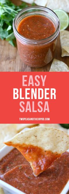 Easy Blender Salsa is a family favorite recipe! You can blend up this salsa in minutes and it tastes better than restaurant salsa! Get out the chips and start dipping!