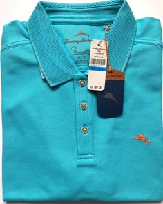 6169e53ac My Tommy Bahama Emfielder Blue Sports Pique Polo Shirt Size XL Turquoise  Clear Ocean by Tommy