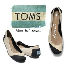 Tom's Ballet Flats ❤  super cute! not crazy abt the product label on the back on the shoe though