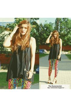 Summer's Last Breath Versace Bag, H&m Tops, Leather Shoes, Breathe, Bohemian, Leggings, Summer, How To Wear, Style