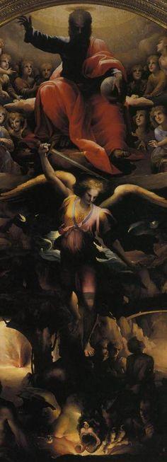 Domenico Beccafumi, São Miguel expulsando os anjos rebeldes, 1526-30.