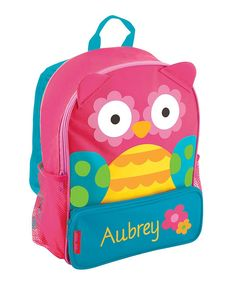 Pink Owl Personalized Backpack