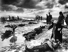 """Dmitri Baltermants, russian photojournalist nicknamed """"the Eye of the Nation"""", took one of the iconic WW2 photos: Grief, Searching for the Loved Ones at Kerch, Crimea, 1941"""