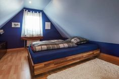 Bett Dachschräge