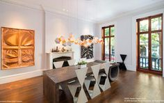 Dining space - Celeb home tour: Sarah Jessica Parker's Greenwich Village townhouse