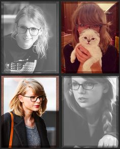 Taylor Swift + Glasses (gifset: http://coolface91.tumblr.com/post/94916749125)
