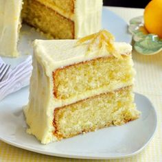 A lemon cake topped with a lemon buttercream garnished with fresh lemon zest, this yellow lemon velvet cake is a delicious and refreshing twist on the indulgent classic. Get the recipe from Rock Recipes.