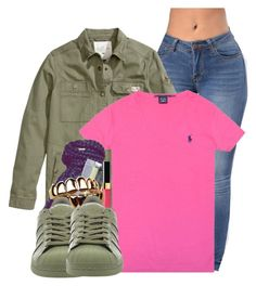 """Untitled #2869"" by alisha-caprise ❤ liked on Polyvore featuring H&M, Ralph Lauren and adidas"