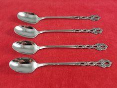 Sugar spoon classic shell by oneida heirloom cube mark stainless 4 iced tea spoons chandelier by oneida community stainless flatware silverware aloadofball Gallery