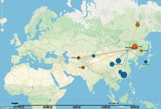 The Mongol expansion seems, according to both history and genetics, to have been a particularly abrupt transfer of people and DNA across Asia
