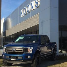 Custom 2018 Ford F-150 XLT Crew  Lightning Blue. Looks even better in person. Visit www.koonsford.com or call (410) 224-2100 for details.