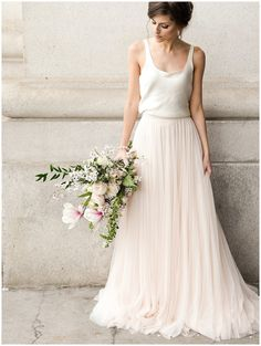 Beautiful Bridal Separates for the Modern Bride Boho Wedding, Summer Wedding, Dream Wedding, Wedding Reception, Wedding Dress City Hall, Dress For Wedding, Trendy Wedding, French Wedding Dress, Tulle Skirt Wedding Dress