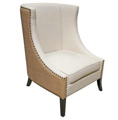 Somer French Country Two Tone Nailhead Living Room Chair. #kathykuohome