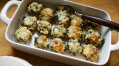 21 Day Fix Approved Spinach & Cheese Stuffed Mushrooms (1/2 Green, 1/2 Blue)  // 21 Day Fix // // fitness // fitspo // workout // motivation // exercise // Meal Prep // diet // nutrition // Inspiration // fitfood // fitfam // clean eating // recipe // recipes