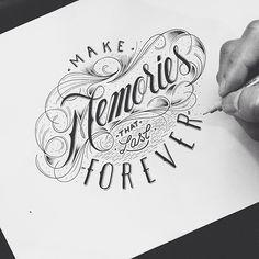 30 illustrations typographiques faites à la main par Raul Alejandro   Design Spartan : Art digital, digital painting, webdesign, illustration et inspiration…