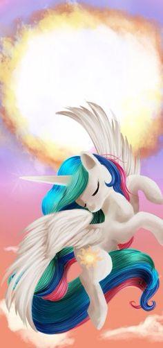Celestia's Sun My Little Pony: Friendship is Magic, princess, alicorn, pegasus, unicorn My Little Pony Princess, Mlp My Little Pony, My Little Pony Friendship, Princesa Celestia, Sleeping Sun, Little Poni, Unicorns And Mermaids, Rainbow Dash, Mythical Creatures