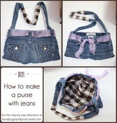 DIY: How to make a purse with jeans