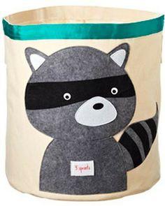 Raccoon Canvas Bin #perry