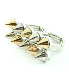 Rockstarz Revolution - TWO-FINGER SPIKE RING, $16.00 (http://www.rockstarzrevolution.com/spike-two-finger-ring/)