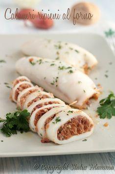 calamari ripieni semplici facile ricetta al forno con pangrattato pane secondo…