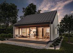 Minimal House Design, Minimal Home, House Designs Ireland, House Outside Design, Modern Barn House, Farm Cottage, Villa Design, Facade House, House Layouts