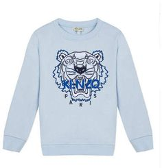 Kenzo Boys' Embroidered Tiger Sweatshirt - Little Kid Kids - Bloomingdale's Oversized Tshirt Outfit, Kenzo Clothing, Boy Clothing, Trendy Hoodies, Tiger Face, Tiger Head, Kenzo Kids, Toddler Boy Fashion, Crew Sweatshirts