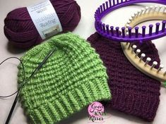 Easy Going Loom Knit Hat My heart is bursting with joy! There's a new pattern out there, but it's not just any old pattern. This one is special. The Easy Going Loom Knit Hat was a collaboration in the truest sense of the word. It all began back in February when I was demoing the textured stitch for the Easy … Round Loom Knitting, Loom Knitting Stitches, Knifty Knitter, Loom Knitting Projects, Free Knitting, Sock Knitting, Knitting Tutorials, Knitting Machine, Cross Stitches