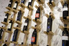 Wine display - Ask Italian restaurant in Castleford by Turnerbates Design & Architecture #wine