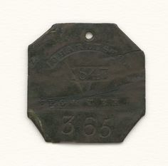 Charleston slave badge for Porter 365. Collection of the Smithsonian National Museum of African American History and Culture, Gift from the Liljenquist Family Collection.