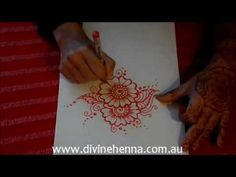 How to Draw Henna Designs Tutorial 1