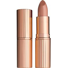 Charlotte Tilbury K.I.S.S.I.N.G lipstick (£22) ❤ liked on Polyvore featuring beauty products, makeup, lip makeup, lipstick, lips, beauty, filler and moisturizing lipstick