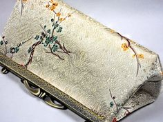 Clutch Purse Light Gold Satin Evening Bag by #WhiteCrossDesigns etsy USA SALE $39.99
