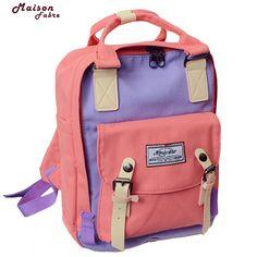 Korean Canvas Printing Backpack Women School Bag Teenage Girls Cute Bookbag Vintage Laptop Backpacks Female hand bag Mochilas 30 #Affiliate Laptop Backpack, School Bags, Korean, Printing, Backpacks, Handbags, Vintage, Canvas, My Style