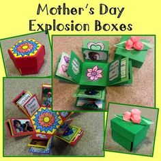 rockthenewyeardeals Mothers Day craft for Mom!  This craft is an amazing way to integrate art while giving the students an opportunity to make a gift for Mom.  Students love this craft and enjoy the mini-scrapbooking project while creating 3-D shapes.