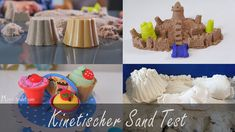 kinetischer sand Test, kinetic sand test Dory, Praxis Test, Breakfast, Desserts, Kinetic Sand, Indoor, Play Dough, Morning Coffee, Deserts