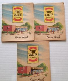 Top Value Stamp Books Lot of 3 Saver Trade Books Partially Full Store Premium