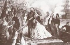 Llegada a México de los emperadores en el año de 1864.
