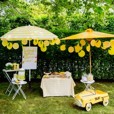 Lovely Lemonade Stand Summer lemonade stand display idea from Darcy Miller Designs Flamingo Party, Kids Lemonade Stands, Lemonade Stand Sign, Pink Lemonade Party, Lemonade Cocktail, Lemon Party, Bake Sale, Party Themes, Party Ideas