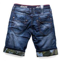 Hombres pantalones cortos extienden VIRGINIA Nr.1513, Farben:Blue;Größe-Shorts:W28: Amazon.es: Ropa y accesorios