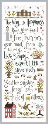 I've got to stitch this. *Pensée positive in English free* PDF freebies! Cross Stitch Freebies, Cross Stitch Samplers, Counted Cross Stitch Patterns, Cross Stitch Designs, Cross Stitching, Cross Stitch Embroidery, Embroidery Patterns, Free Cross Stitch Charts, Stitch Crochet
