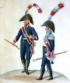 Holländische Truppen - Tambour-Major des  2. Infanterie-Regiments (Fig. a). Tambour-Major des  6. Infanterie-Regiments (Fig. b)