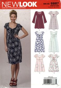 New Look 6887 Misses' Dress Six Sizes in One